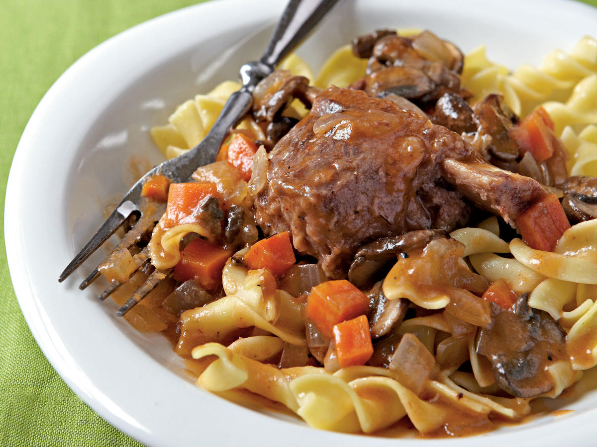 Healthy Budget Recipes: Braised Short Ribs with Egg Noodles