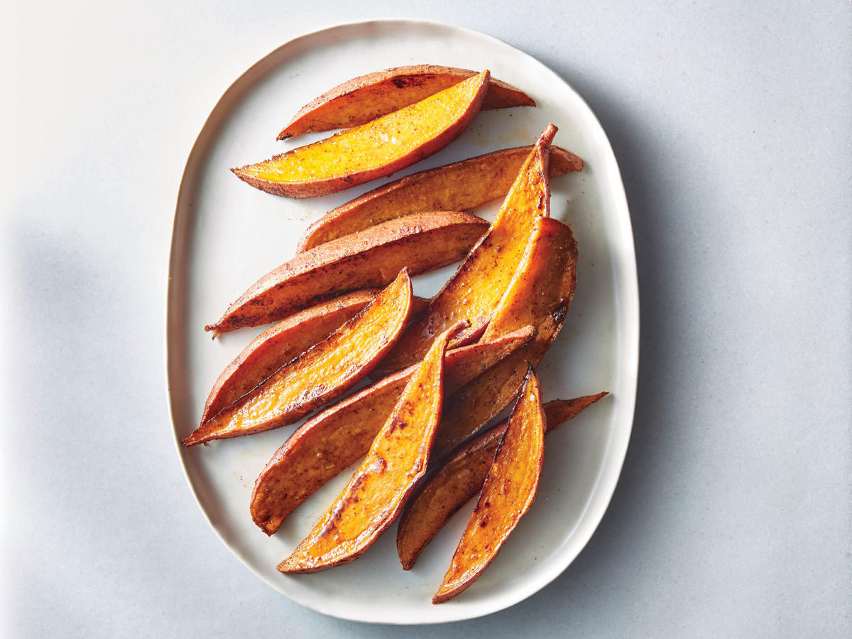 Spicy Sweet Potato Wedges Recipe - Cooking Light