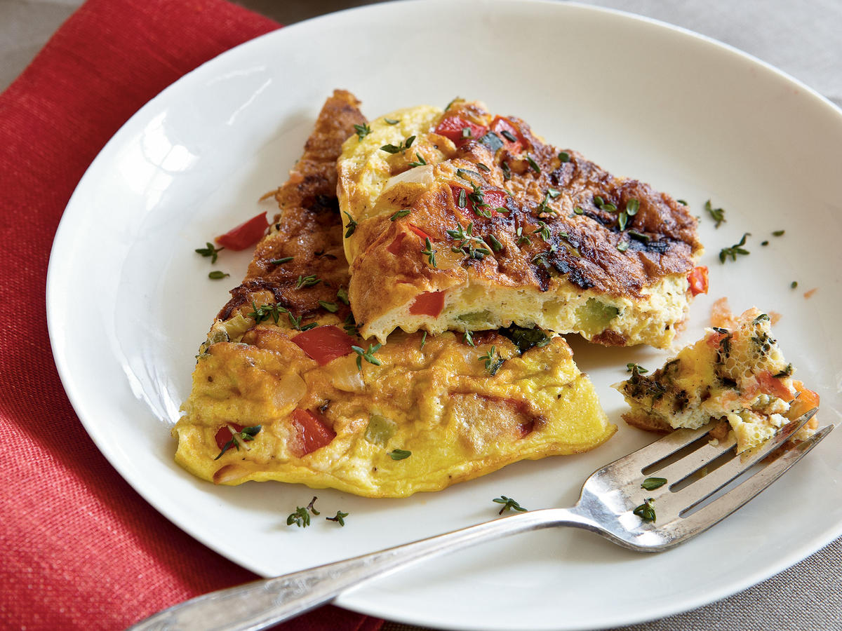 Garden-fresh summer vegetables will make this frittata a special breakfast or brunch treat.