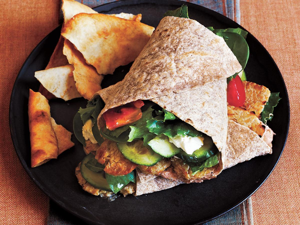 These wraps are full of delicious fresh flavor. Summertime, or anytime, this will be your new go-to. Serve with pita chips.