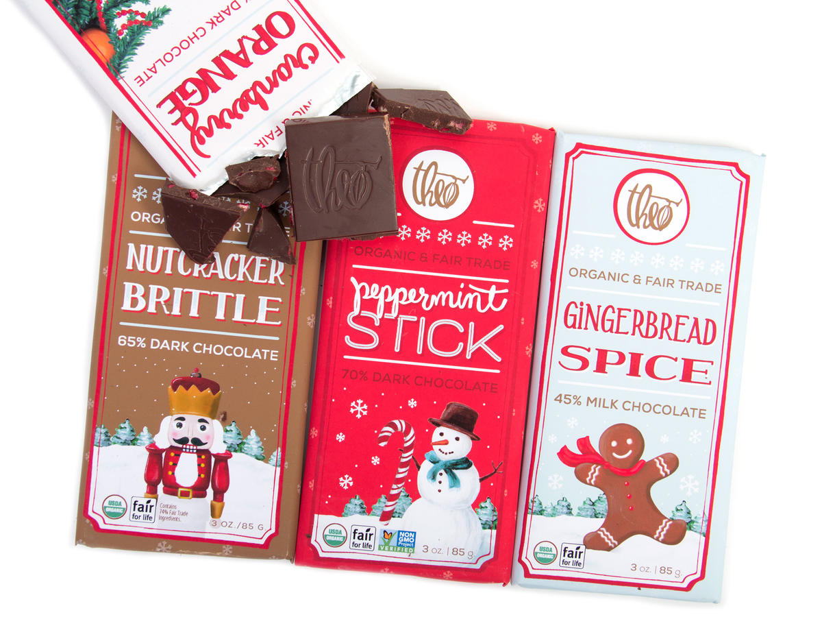 Theo Holiday Chocolate Bars