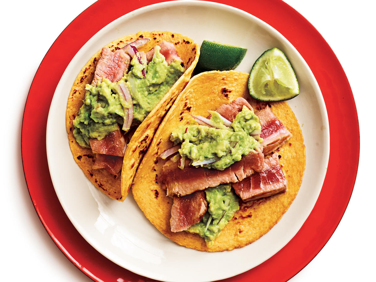 Tuna-Guacamole Tacos Recipe