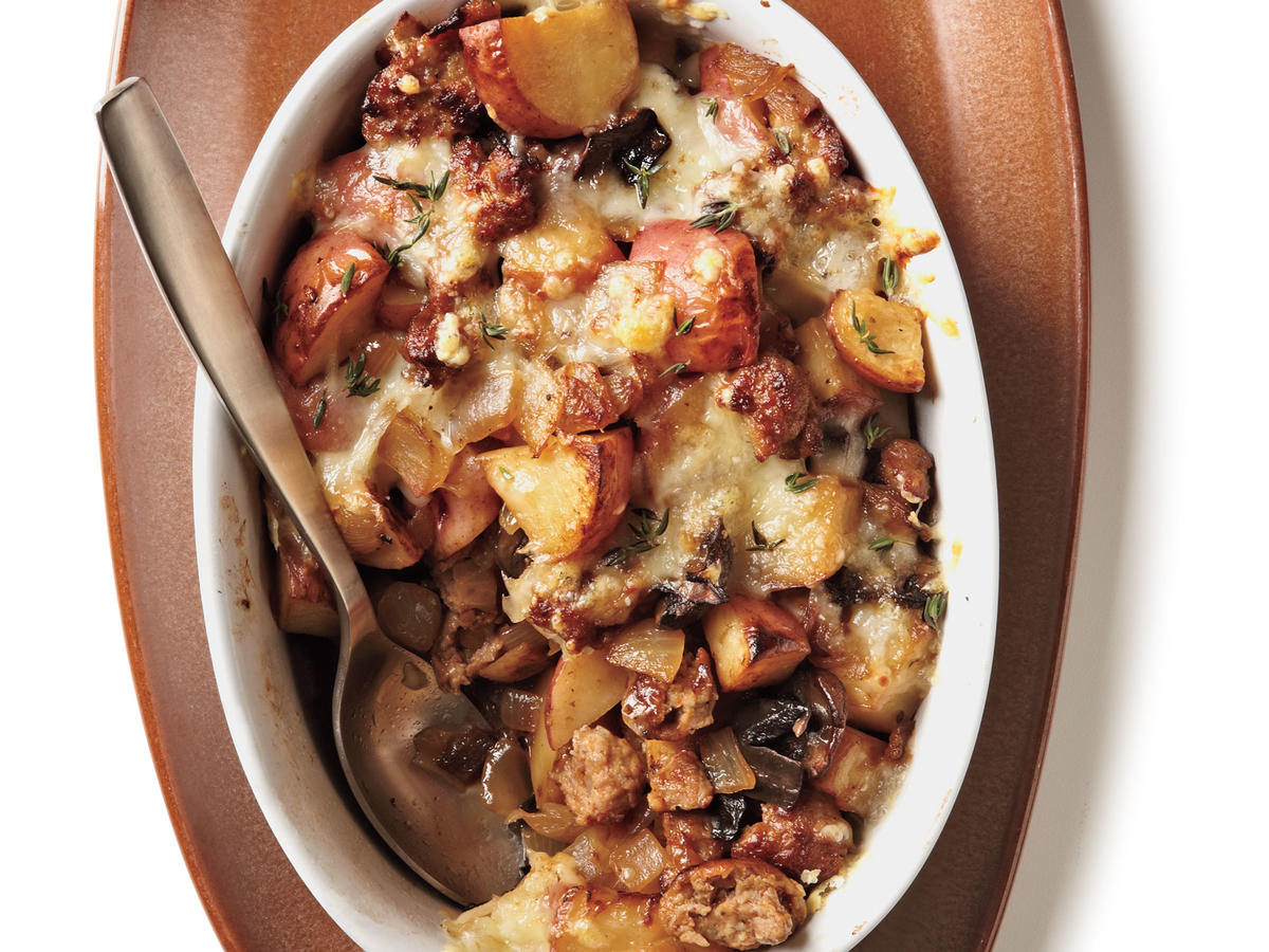 Home fries meet casserole in this ultimate comfort food dish that's great for brunch or dinner. It's most economical to buy a block of cheese and shred it yourself.