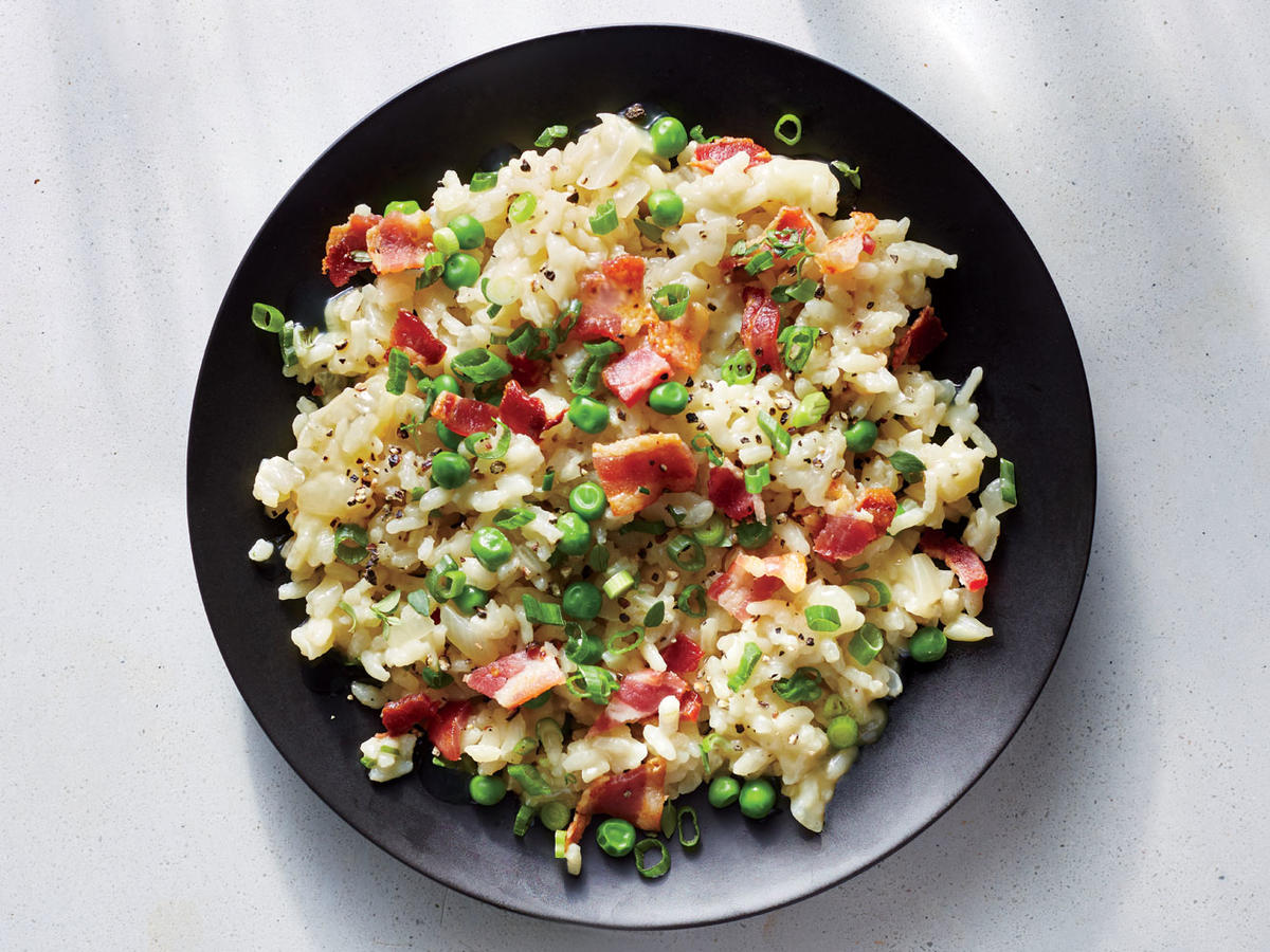 White Cheddar and Bacon Risotto
