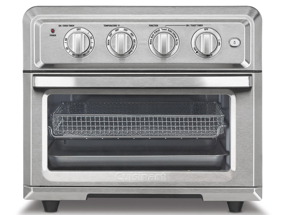 1708w Cuisinart TOA-60 Convection Toaster Oven Air Fryer with Light, Silver