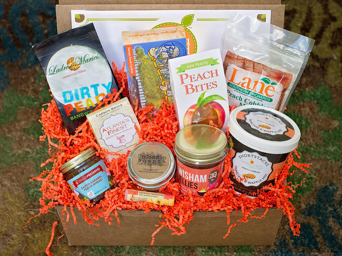 Deluxe Georgia Peach Gift Box Set