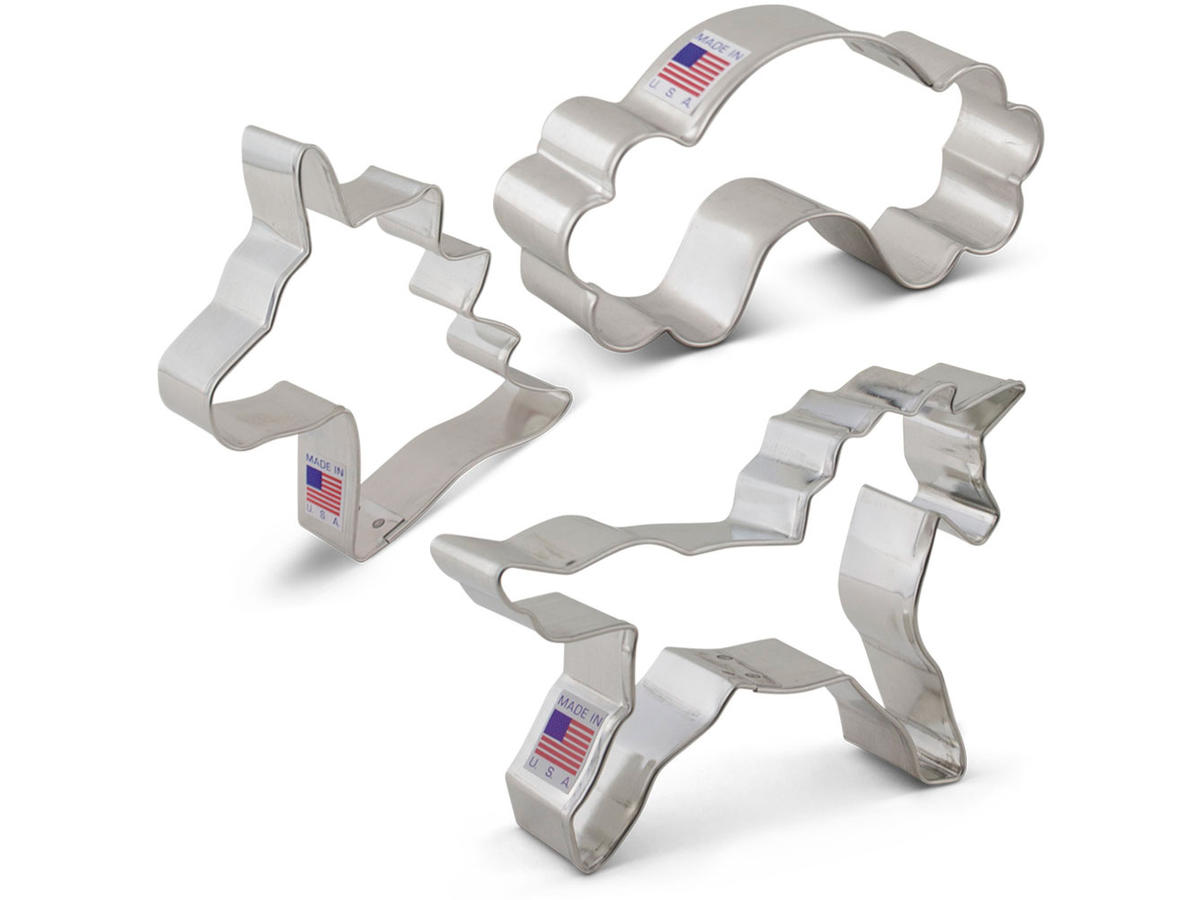 Ann Clark Cookie Cutters Unicorn 3 Piece Set