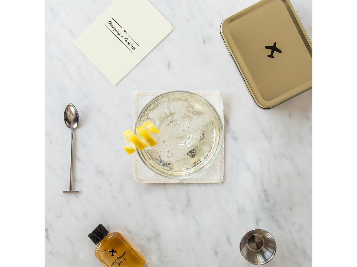 W&P Designs Carry On Cocktail Kit Champagne
