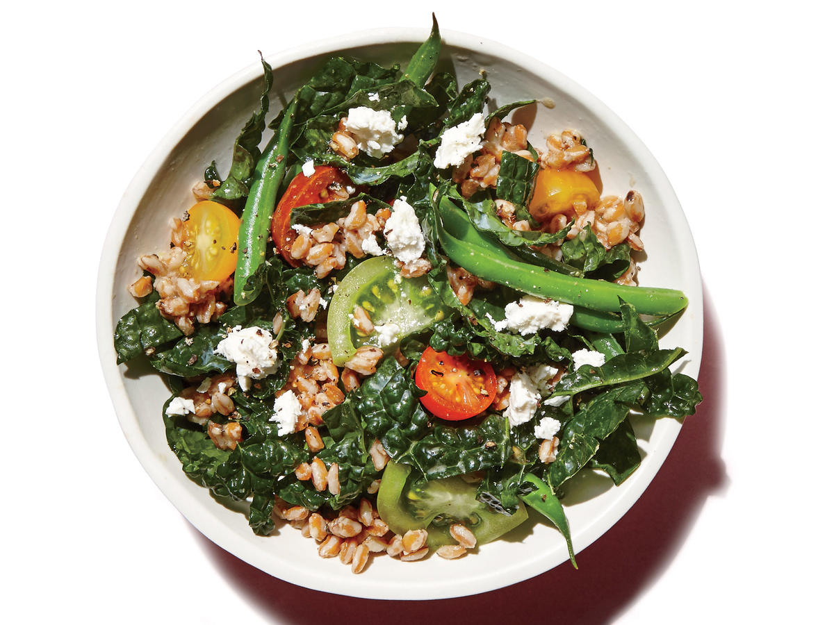 Farro, Green Bean, and Kale Salad
