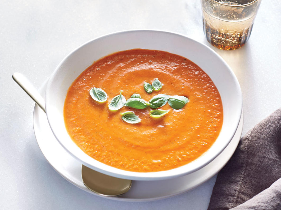 Dinner One: Fire-Roasted Tomato-Basil Soup