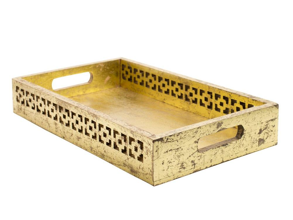 Global Goods Gold Mango Wood Tray