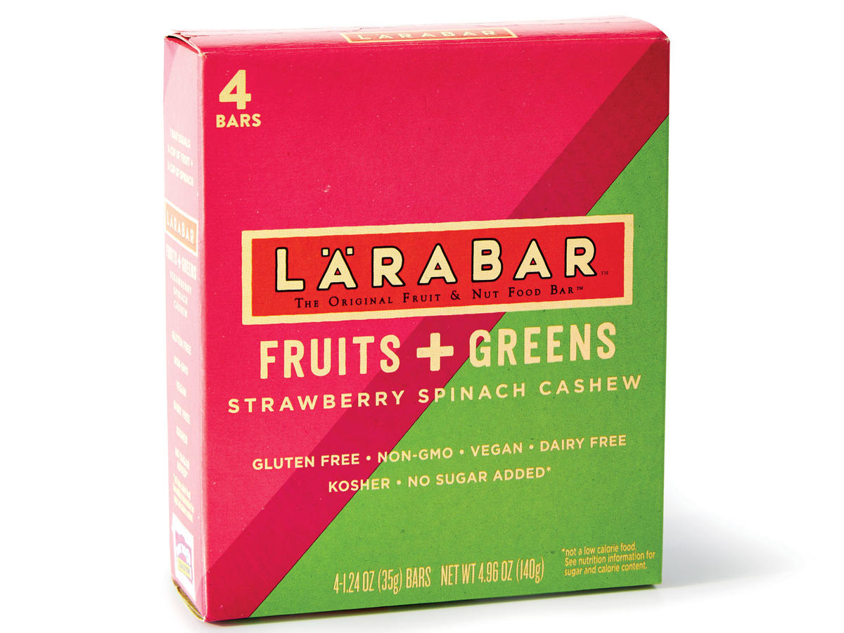 Larabar Fruits + Greens Bars (Strawberry Spinach Cashew)