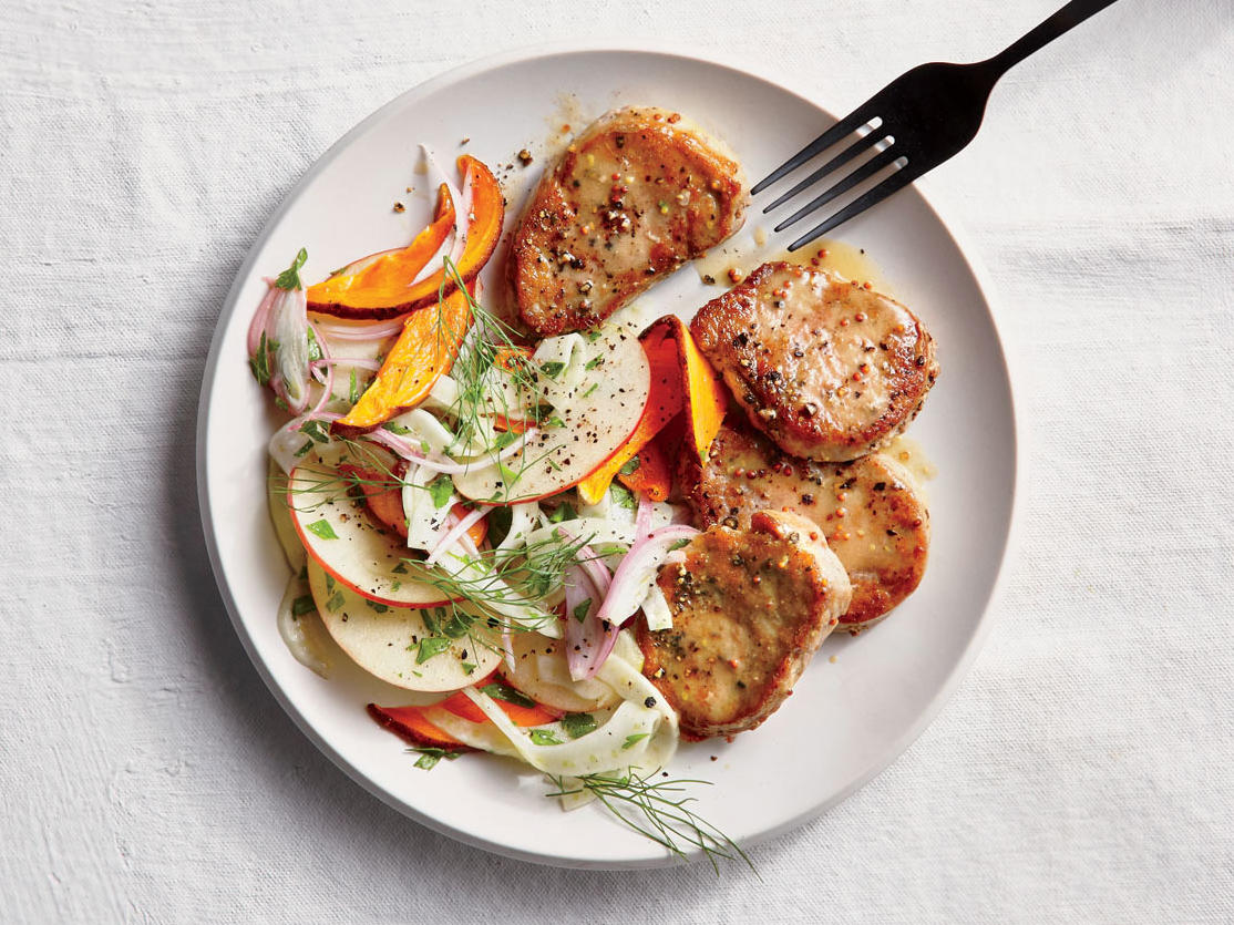 Pork Medallions with Fennel-Apple Slaw