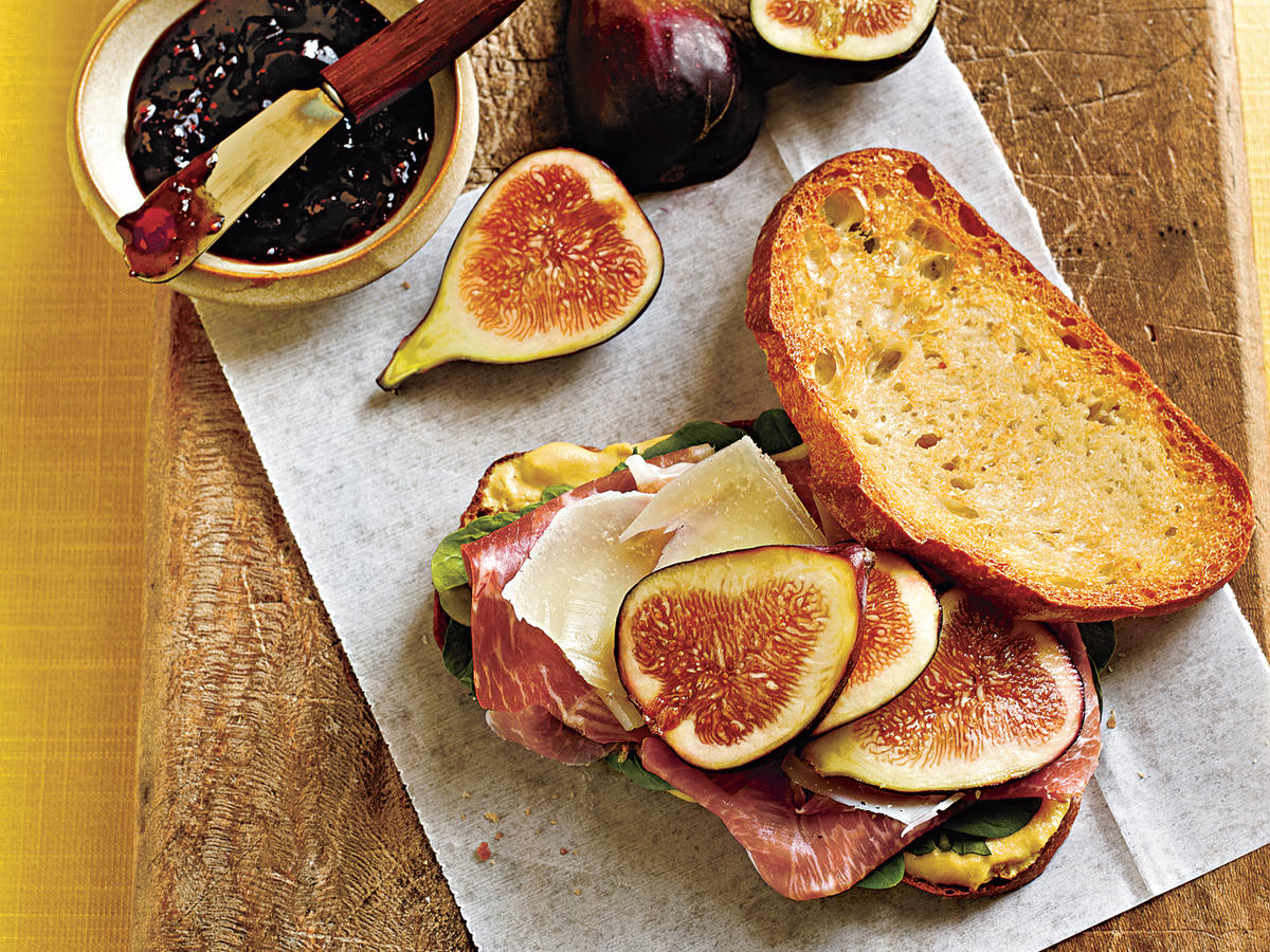 Prosciutto, Fresh Fig, and Manchego Sandwiches