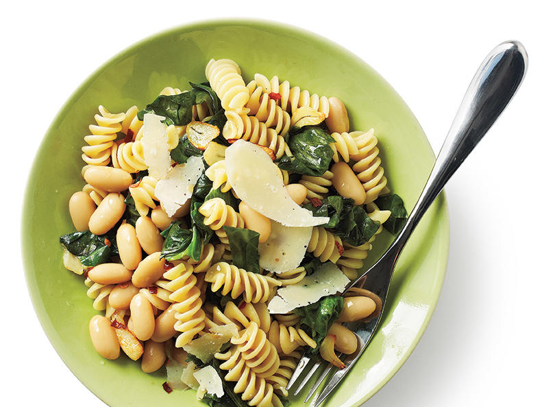 Rotini with White Beans and Escarole Recipe