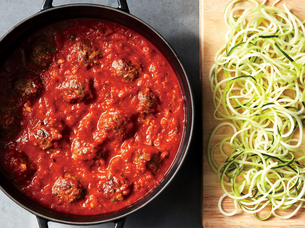 Lightened Up Spaghetti and Meatballs