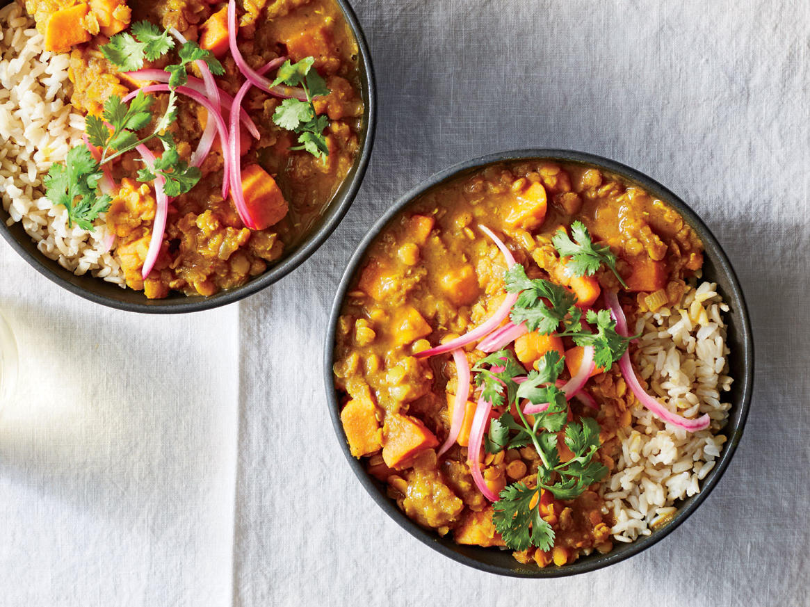 September: Sweet Potato-and-Red Lentil Curry