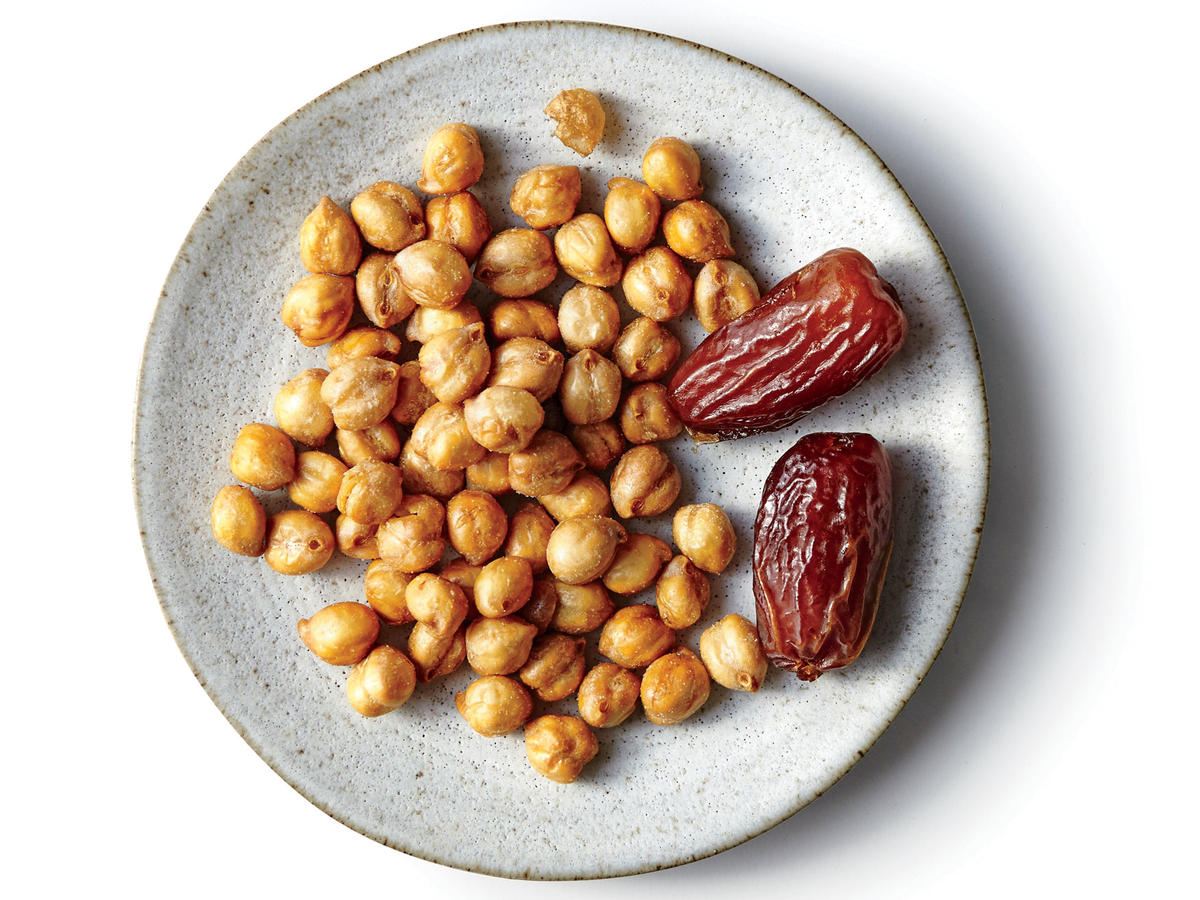 The Good Bean Roasted Chickpea Snacks and Medjool Dates