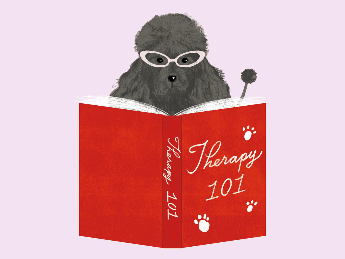 Dog Reading Therapy Book