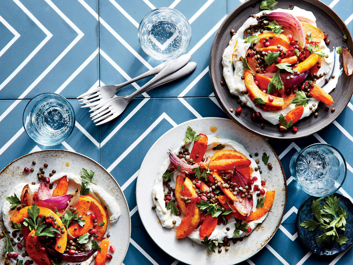Fall Vegetable And Lentil Salad Recipe Cooking Light