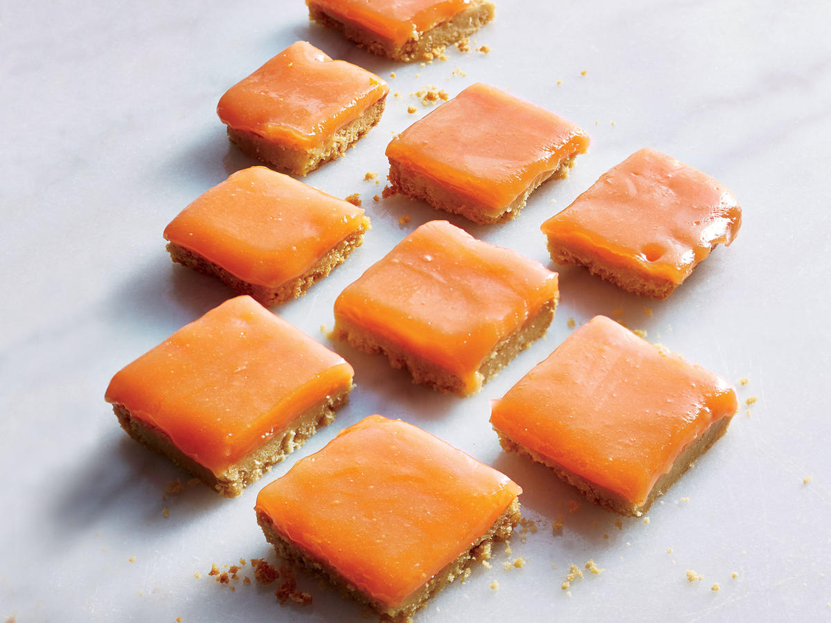 Dessert Bonus: Grapefruit-Campari Bars with Shortbread Crust