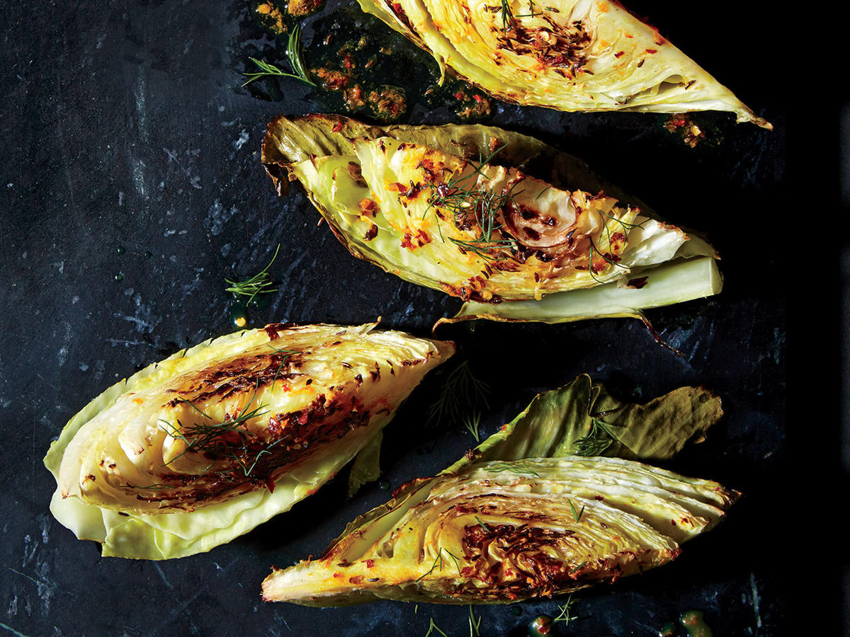 Roasted Cabbage Wedges with Orange and Caraway Recipe ...