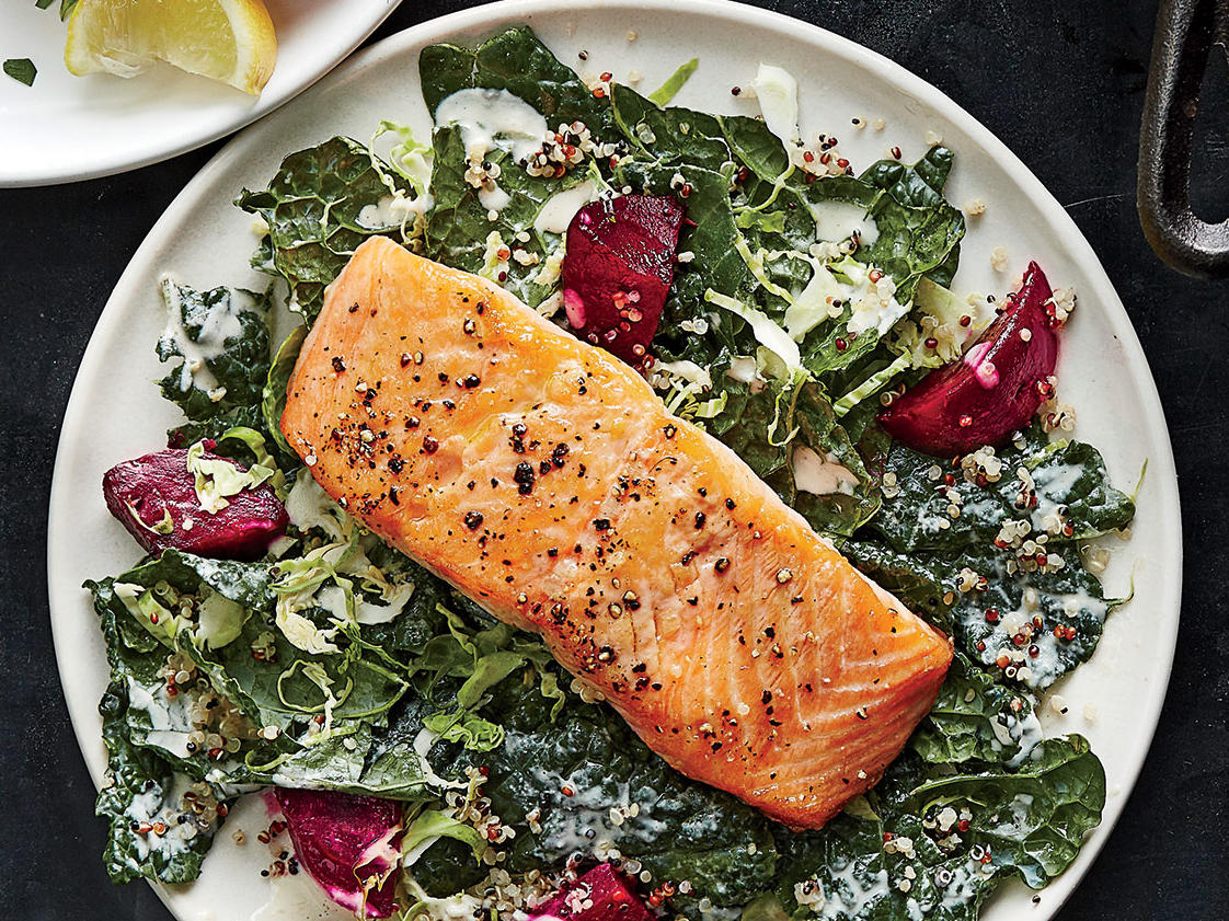 Day 2 Dinner: Supercharged Salmon Salad
