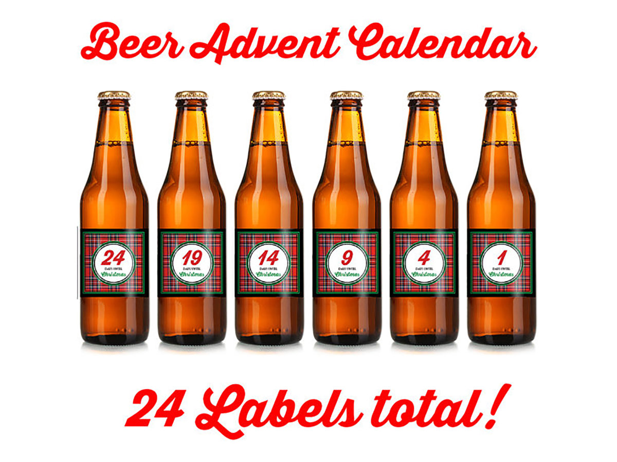 Christmas Beer Labels Advent Calendar