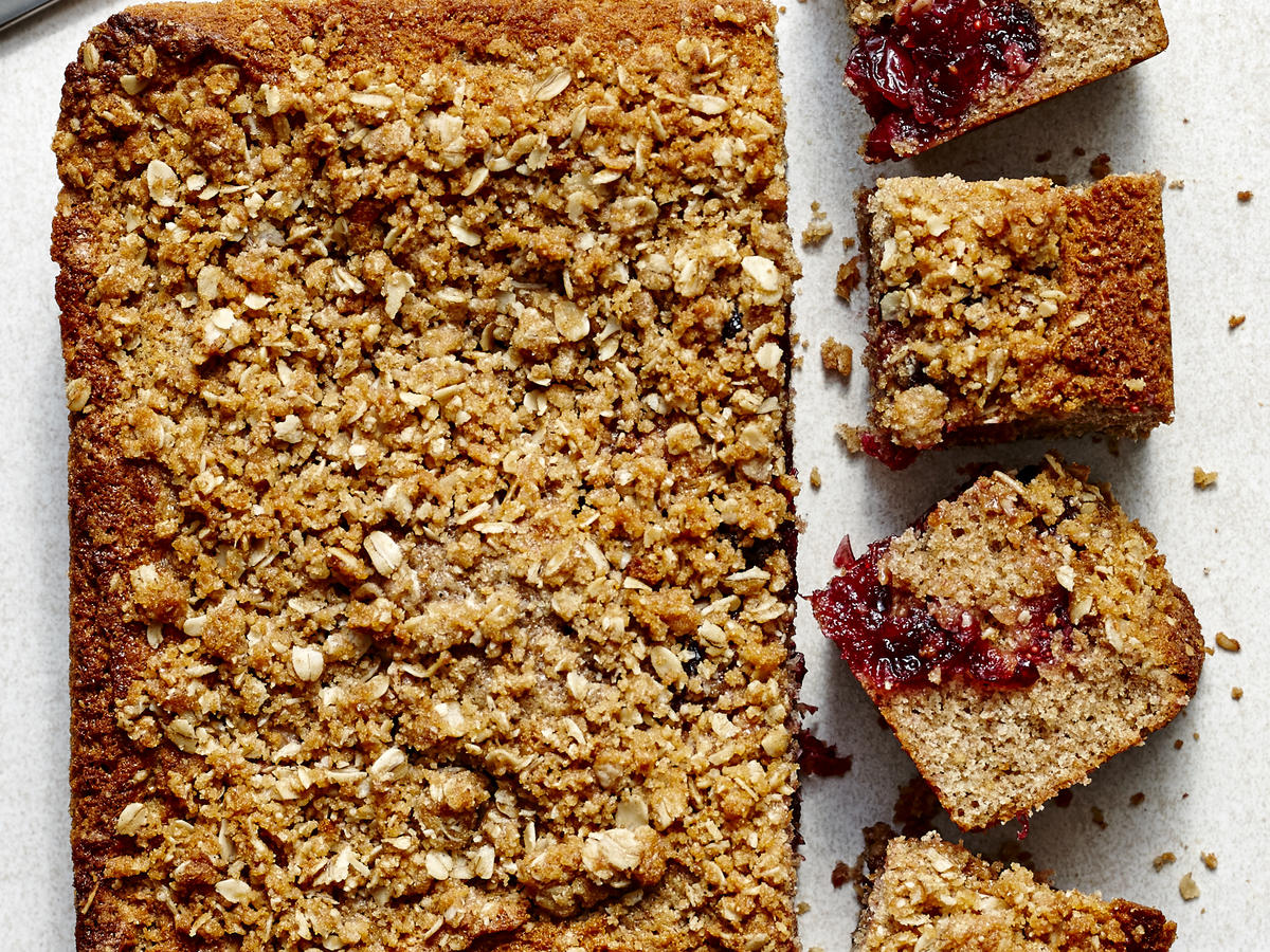 Cranberry Crumb Buckle Cake