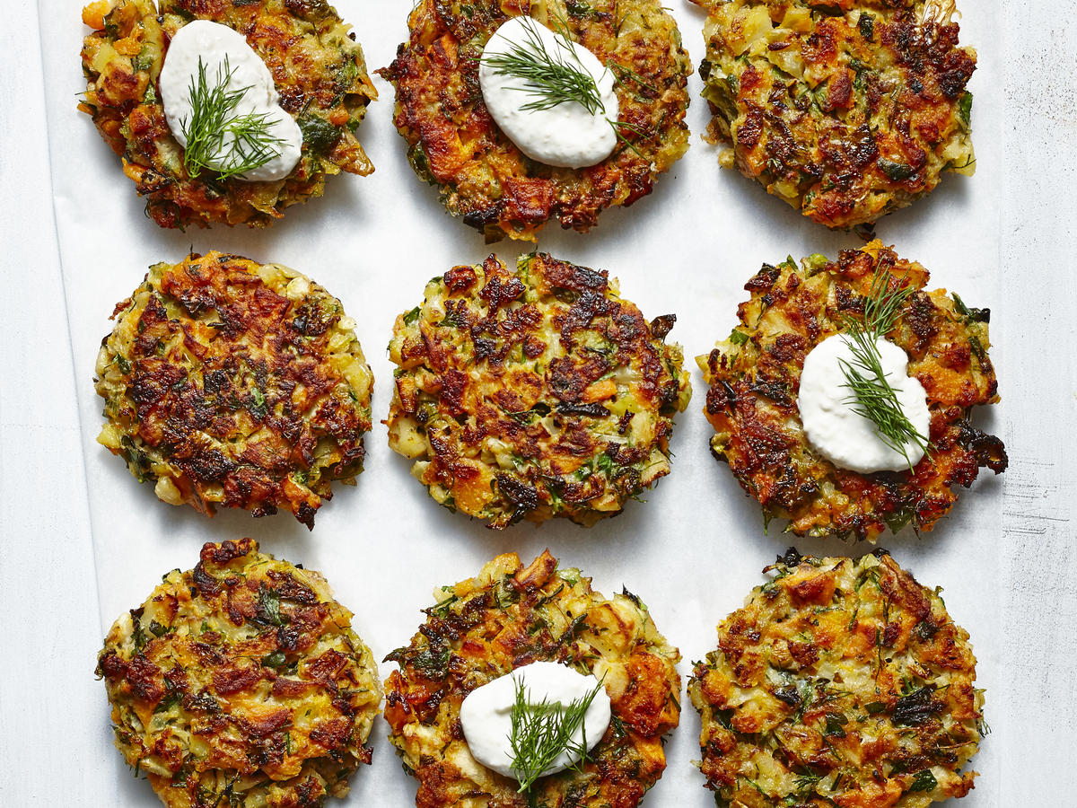 Roasted Root Vegetable Latkes