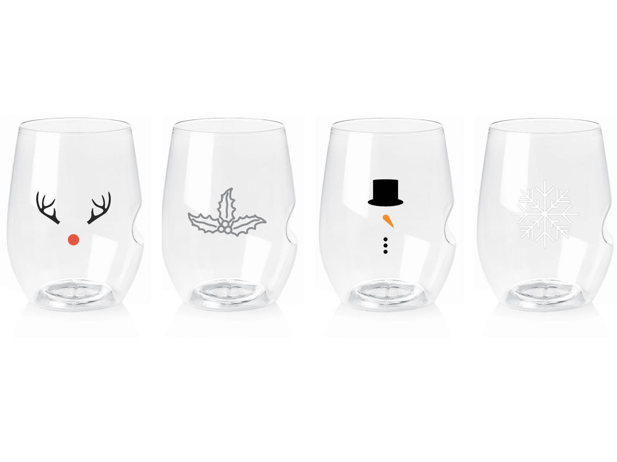 Govino Toprack Holiday Wine Glasses