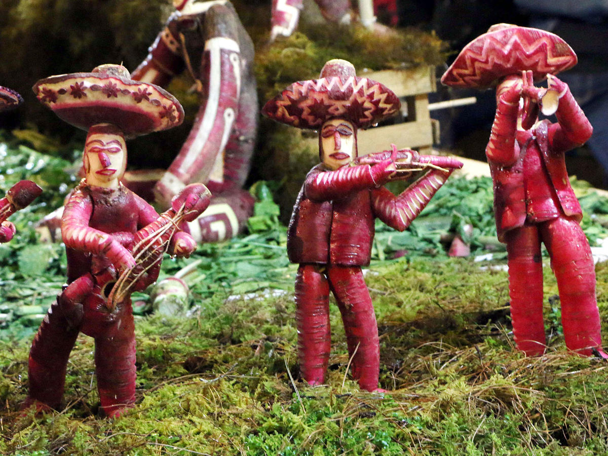 Night of the Radishes Carving in Mexico