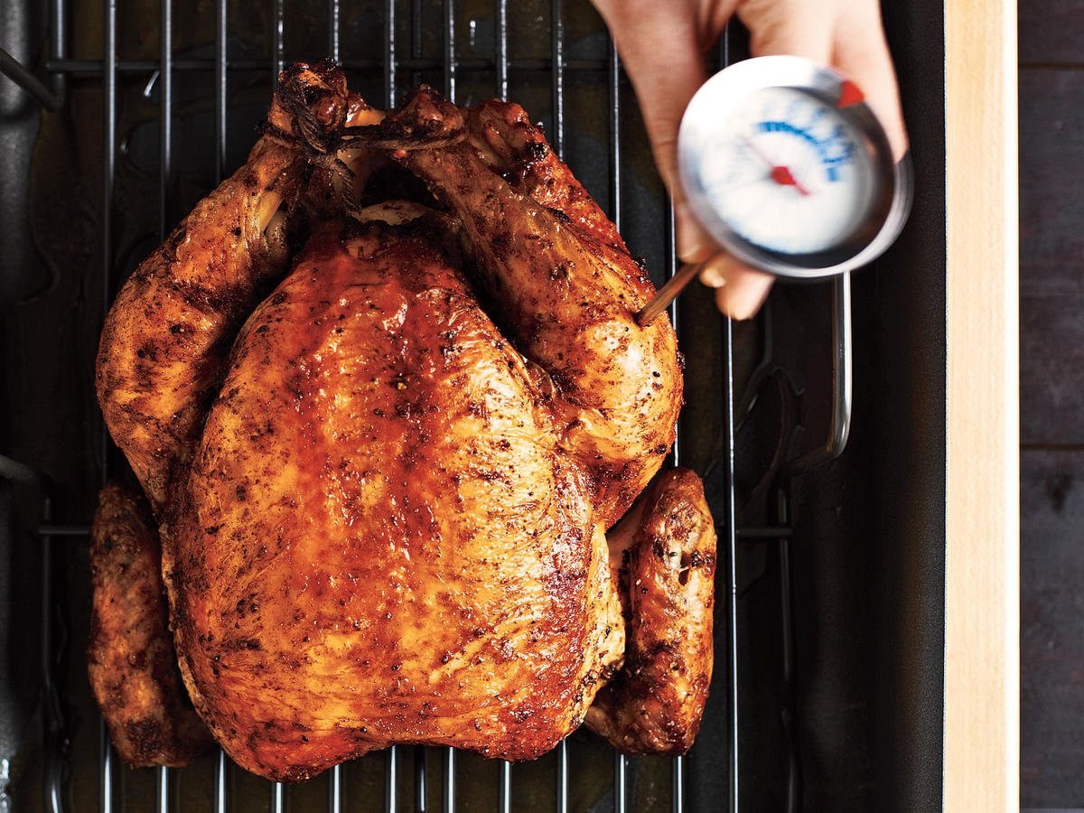How to Temperature Check a Roast Chicken