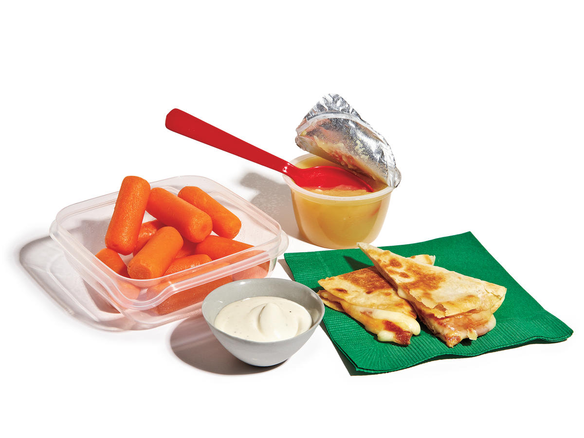 Pizzadilla and Carrot Crunch Lunch Box