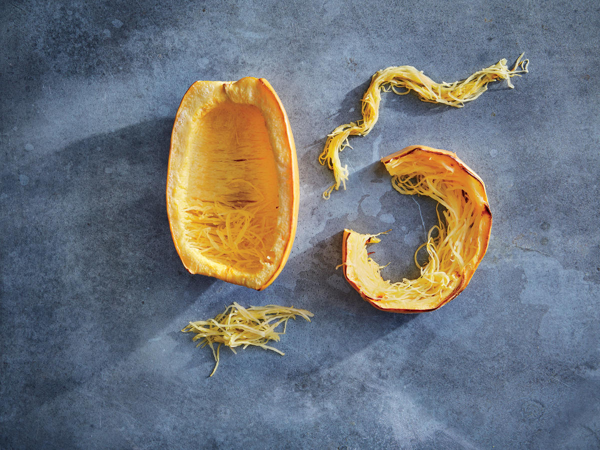 Look at the difference in spaghetti squash strands.