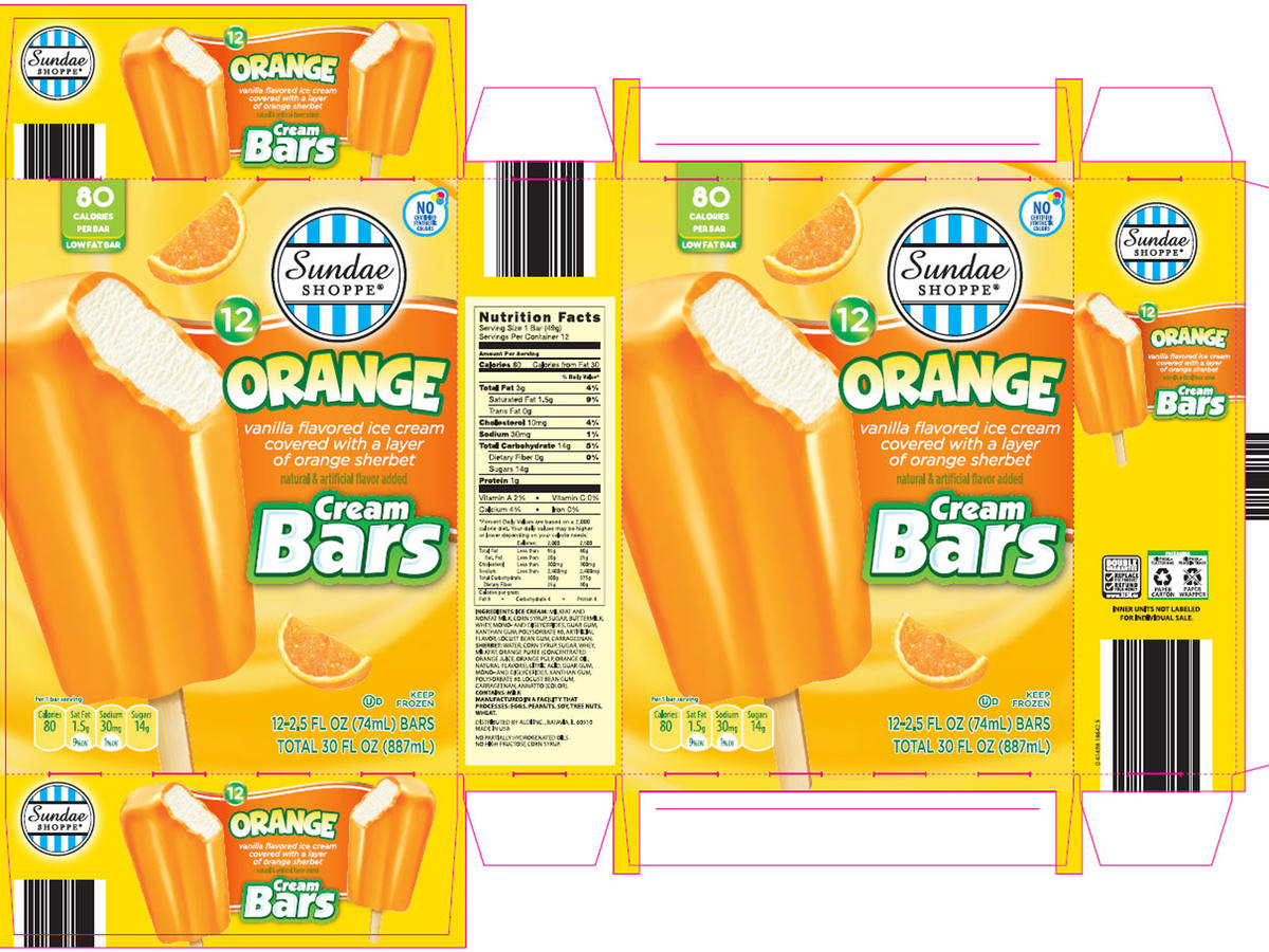 Sundae Shop Ice Cream Bars Recall
