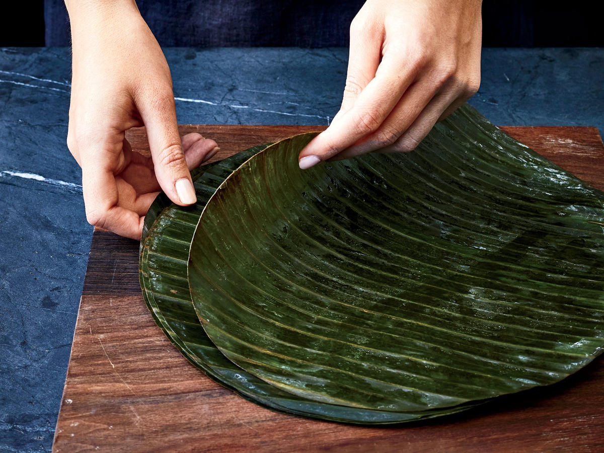 How-to Steam-Bake Fish: Prepare Leaves