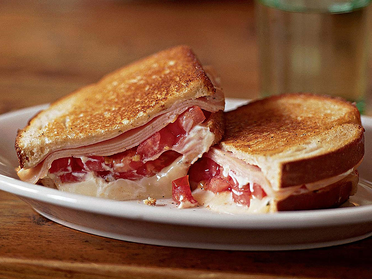 Grilled Tomato, Smoked Turkey, and Muenster Sandwich Makeover