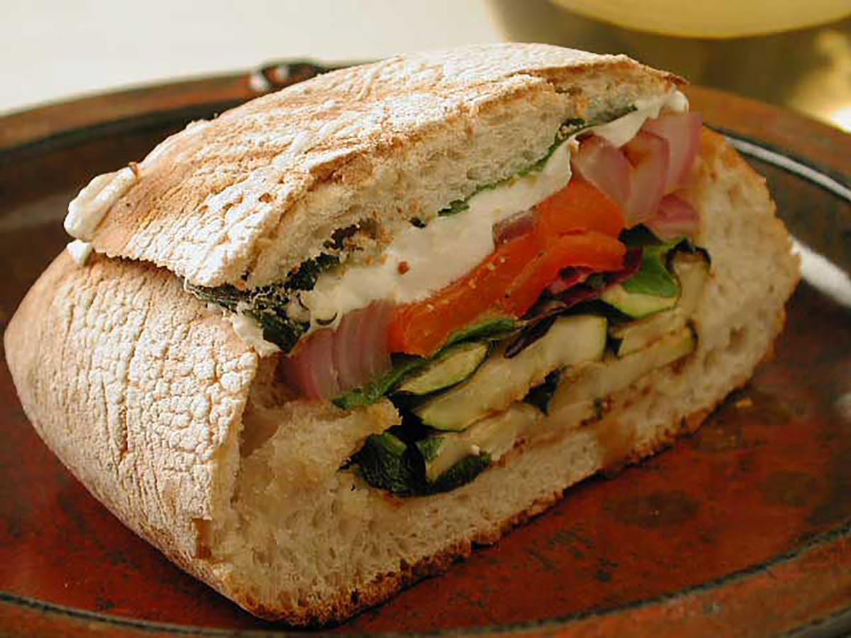 Grilled Vegetable and Mozzarella Sandwiches Makeover