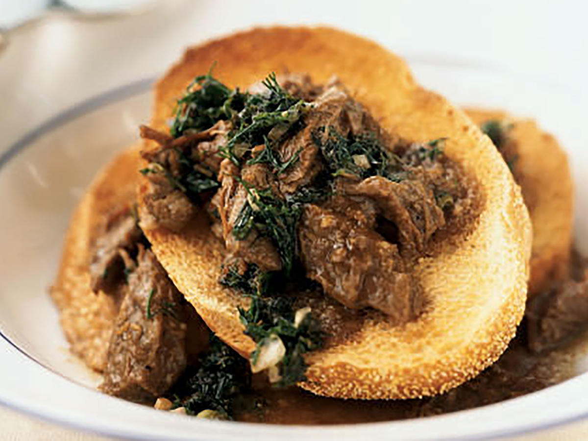 Beer-Braised Beef with Italian Salsa Verde Beer Recipe