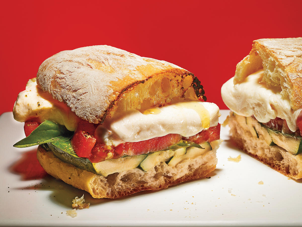 Grilled Zucchini Caprese Sandwiches Makeover