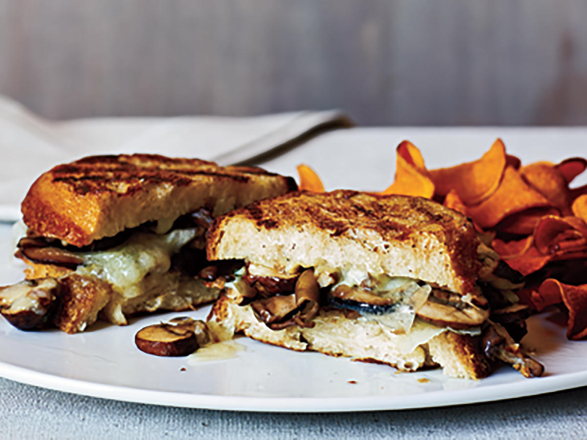 Mushroom and Manchego Panini Makeover