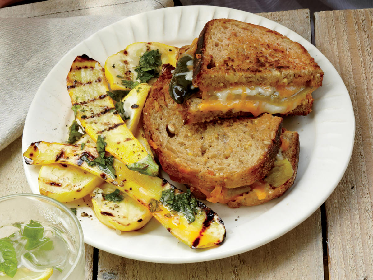Grilled Cheese and Green Chile Sandwiches