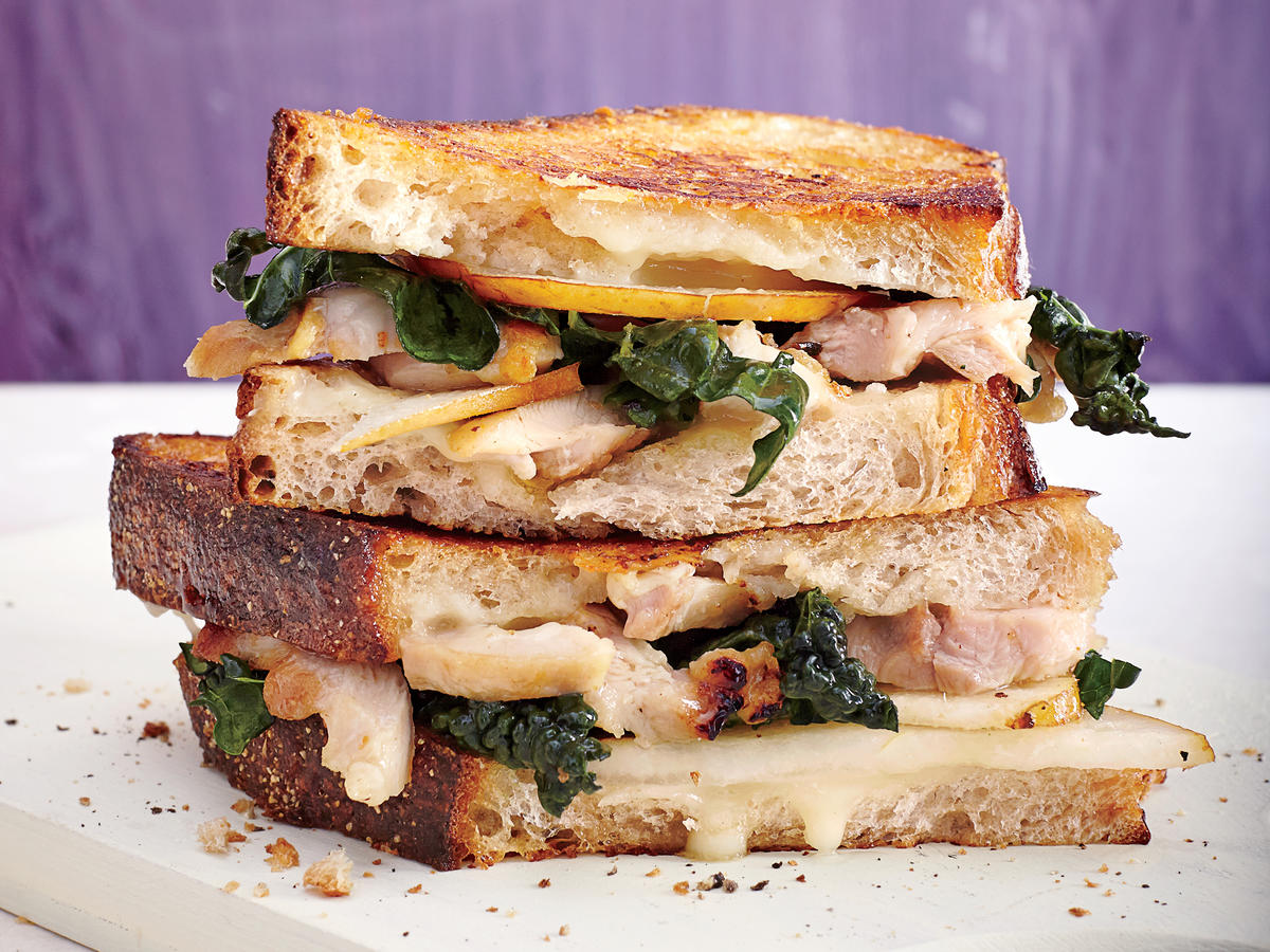 Fig-Glazed Chicken Panini with Brie