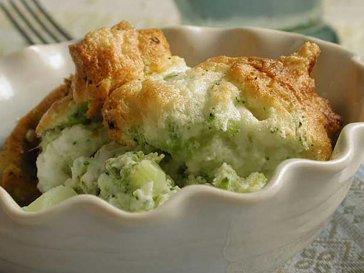 Easter Lemon-Scented Broccoli Souffle Recipe