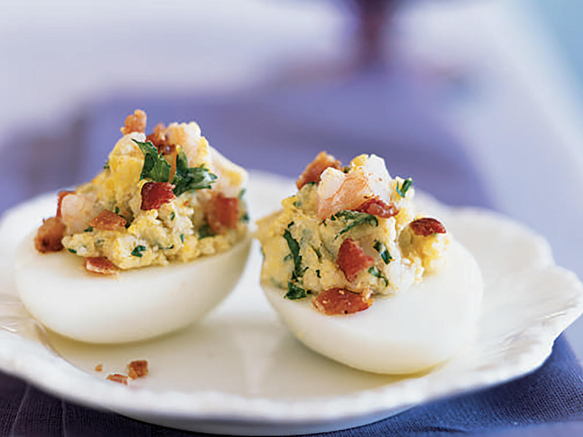 Easter Shrimp and Bacon Deviled Eggs Recipe