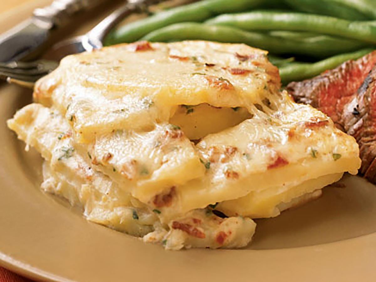 Easter Asiago, Potato, and Bacon Gratin Recipe