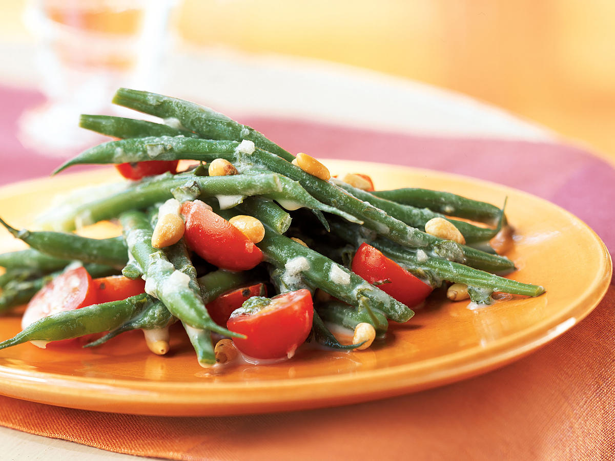 Easter Haricots Verts and Grape Tomato Salad with Creme Fraiche Dressing Recipe