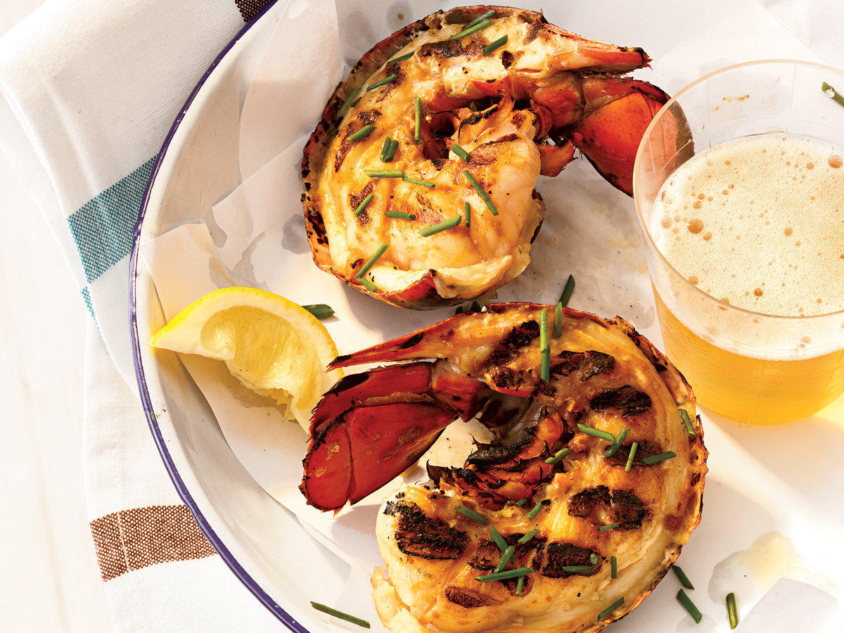 Grilled Maine Lobster Tails with Miso Butter Recipe