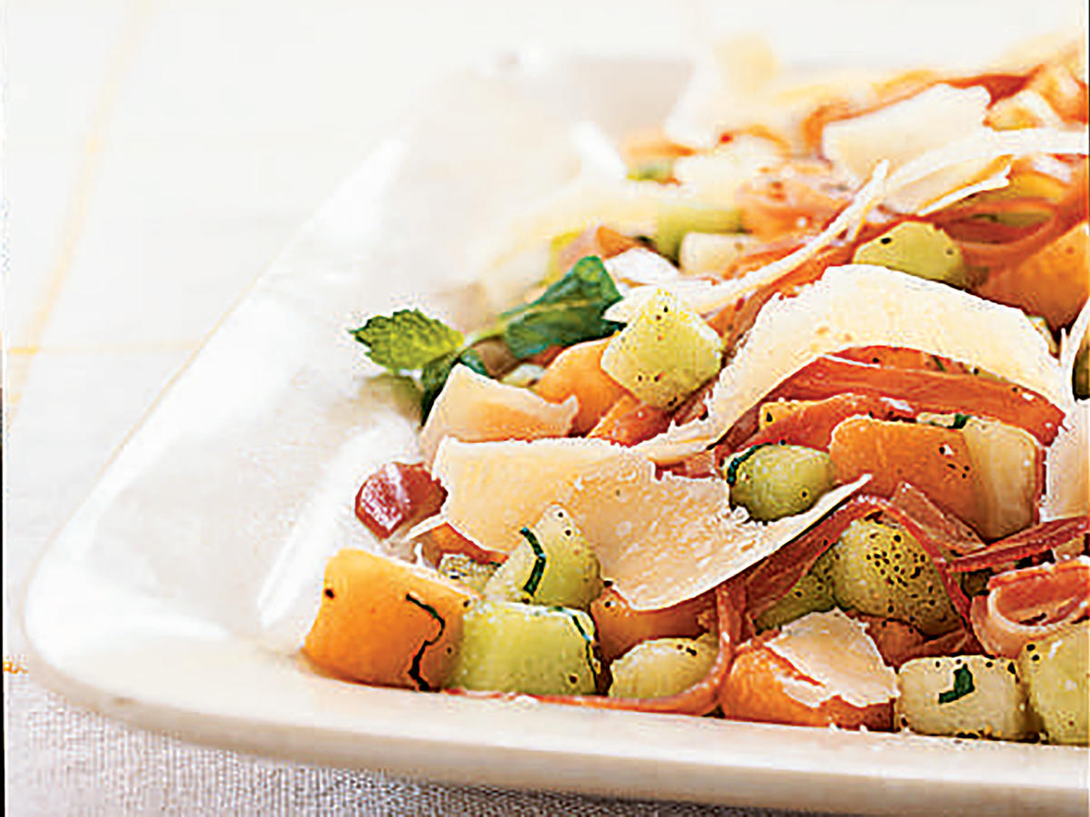 Easter Melon and Prosciutto Salad with Parmigiano-Reggiano Recipe